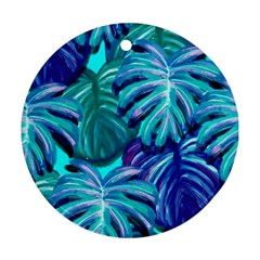Leaves Tropical Palma Jungle Ornament (round) by Sapixe