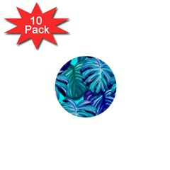 Leaves Tropical Palma Jungle 1  Mini Buttons (10 Pack)