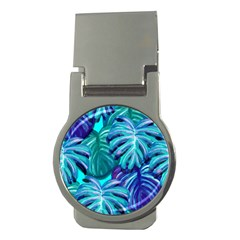 Leaves Tropical Palma Jungle Money Clips (round)  by Sapixe