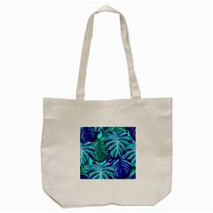 Leaves Tropical Palma Jungle Tote Bag (cream) by Sapixe