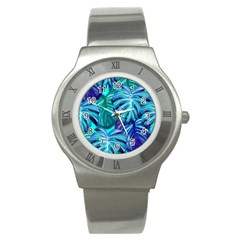 Leaves Tropical Palma Jungle Stainless Steel Watch