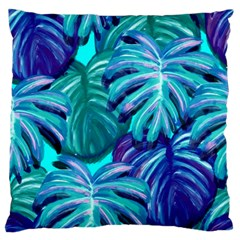 Leaves Tropical Palma Jungle Large Flano Cushion Case (one Side) by Sapixe