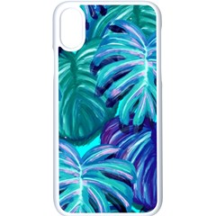 Leaves Tropical Palma Jungle Apple Iphone X Seamless Case (white)