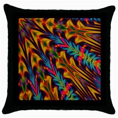Background Abstract Texture Throw Pillow Case (black)