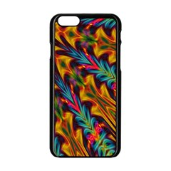 Background Abstract Texture Apple Iphone 6/6s Black Enamel Case