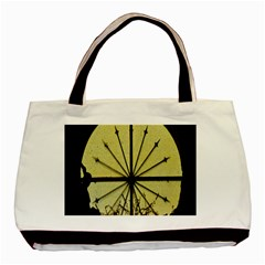 Window About Glass Metal Weathered Basic Tote Bag by Sapixe