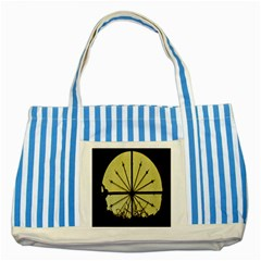 Window About Glass Metal Weathered Striped Blue Tote Bag by Sapixe