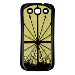 Window About Glass Metal Weathered Samsung Galaxy S3 Back Case (black) by Sapixe
