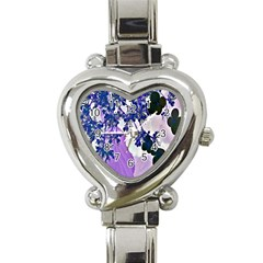 Blossom Bloom Floral Design Heart Italian Charm Watch