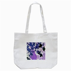 Blossom Bloom Floral Design Tote Bag (white) by Sapixe