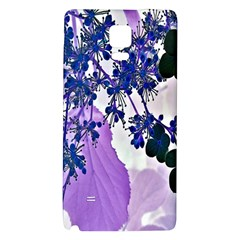 Blossom Bloom Floral Design Samsung Note 4 Hardshell Back Case by Sapixe