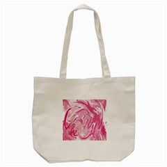 Pink Marble Painting Texture Pattern Tote Bag (cream)