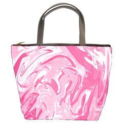 Pink Marble Painting Texture Pattern Bucket Bag by Sapixe