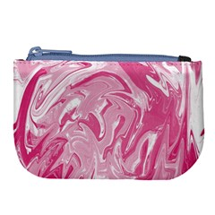 Pink Marble Painting Texture Pattern Large Coin Purse by Sapixe
