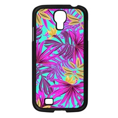 Tropical Greens Leaves Design Samsung Galaxy S4 I9500/ I9505 Case (black) by Sapixe