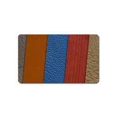 Leather Background Structure Orange Magnet (name Card)