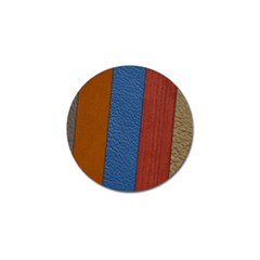 Leather Background Structure Orange Golf Ball Marker (4 Pack)