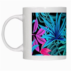 Leaves Picture Tropical Plant White Mugs