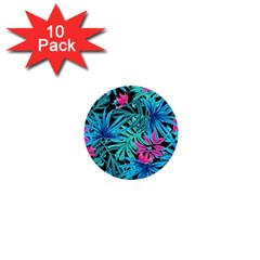 Leaves Picture Tropical Plant 1  Mini Buttons (10 Pack)