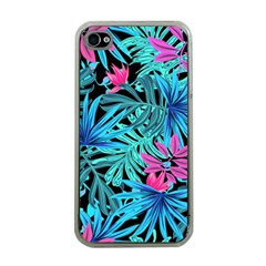 Leaves Picture Tropical Plant Apple Iphone 4 Case (clear) by Sapixe