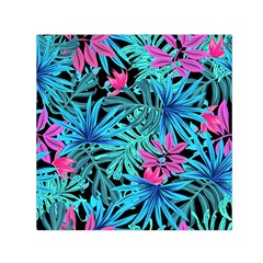 Leaves Picture Tropical Plant Small Satin Scarf (square)
