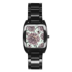 Flowers Flower Rosa Spring Stainless Steel Barrel Watch by Sapixe