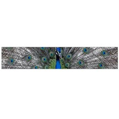Peacock Bird Animals Pen Plumage Large Flano Scarf  by Sapixe