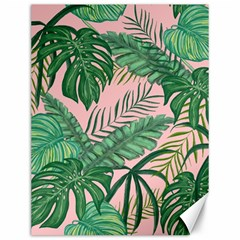 Tropical Greens Leaves Design Canvas 12  X 16