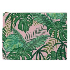 Tropical Greens Leaves Design Cosmetic Bag (xxl) by Sapixe