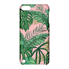 Tropical Greens Leaves Design Apple Ipod Touch 5 Hardshell Case With Stand