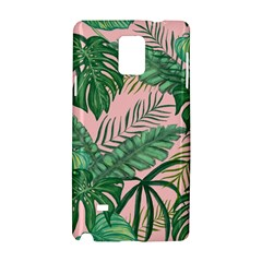 Tropical Greens Leaves Design Samsung Galaxy Note 4 Hardshell Case by Sapixe