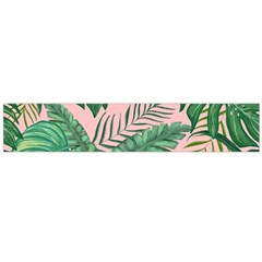 Tropical Greens Leaves Design Large Flano Scarf