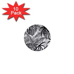 Drawing Leaves Nature Picture 1  Mini Buttons (10 Pack)