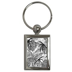 Drawing Leaves Nature Picture Key Chains (rectangle)  by Sapixe