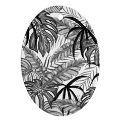 Drawing Leaves Nature Picture Oval Ornament (two Sides) by Sapixe