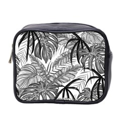 Drawing Leaves Nature Picture Mini Toiletries Bag (two Sides)