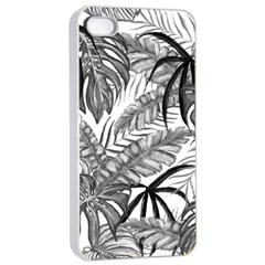 Drawing Leaves Nature Picture Apple Iphone 4/4s Seamless Case (white) by Sapixe