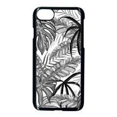 Drawing Leaves Nature Picture Apple Iphone 8 Seamless Case (black)