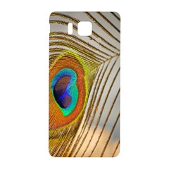 Peacock Feather Feather Bird Samsung Galaxy Alpha Hardshell Back Case by Sapixe