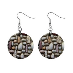The Stones Facade Wall Building Mini Button Earrings by Sapixe