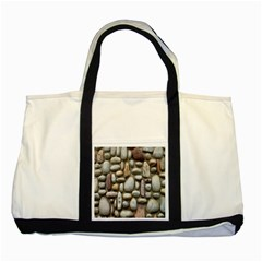 The Stones Facade Wall Building Two Tone Tote Bag