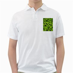 Green Hedge Texture Yew Plant Bush Leaf Golf Shirt
