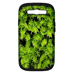 Green Hedge Texture Yew Plant Bush Leaf Samsung Galaxy S Iii Hardshell Case (pc+silicone) by Sapixe