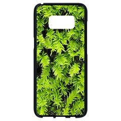 Green Hedge Texture Yew Plant Bush Leaf Samsung Galaxy S8 Black Seamless Case by Sapixe