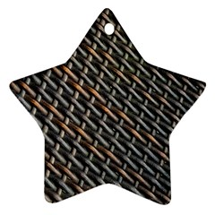 Rattan Wood Background Pattern Ornament (star) by Sapixe
