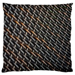 Rattan Wood Background Pattern Large Cushion Case (one Side)