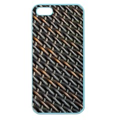 Rattan Wood Background Pattern Apple Seamless Iphone 5 Case (color)
