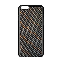 Rattan Wood Background Pattern Apple Iphone 6/6s Black Enamel Case by Sapixe