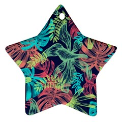 Leaves Tropical Picture Plant Ornament (star) by Sapixe