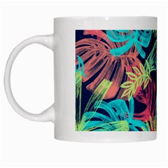 Leaves Tropical Picture Plant White Mugs
